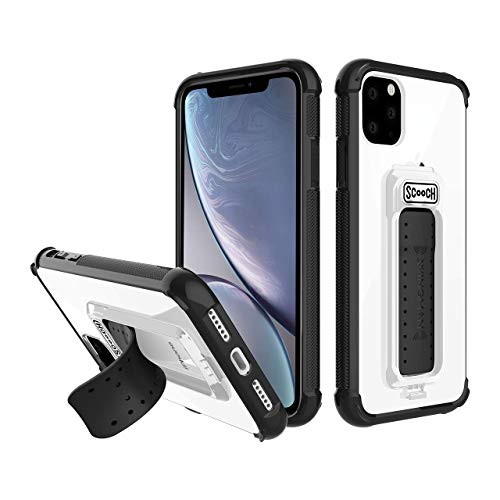 Scooch Wingman Kickstand Case Compatible with iPhone 11 Pro Case [10 ft Drop Protection] [Two-Way Stand] Shockproof Protective Cover with Metal Badge for Magnetic Car Mount (Tuxedo)