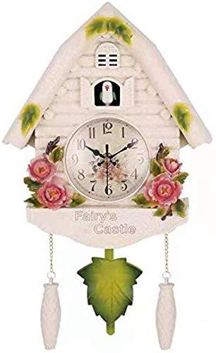 SXXXIT Wall Clock Cute Bird Wall Clock Cuckoo Alarm Clock Cuckoo Clock Living Room Clock Letter Kids Nursery Decor Home Day Time Alarm Clock A.