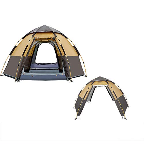 QWEA Automatic Tent Waterproof, Pop up Family Camping Tent 5-8 Person Portable Instant Tent Windproof Perfect for Outdoor Traveling Hiking Camping Fishing Mountaineering