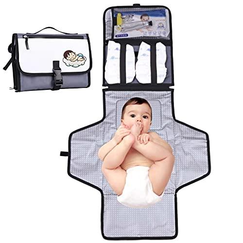 Lnrueg Almohadilla para Cambiar Pañales, Portátil, Impermeable, Estación De Cambio para Bebés, Almohadilla De Viaje para Bebés, Pañal Lavable Y Lavable a La Moda