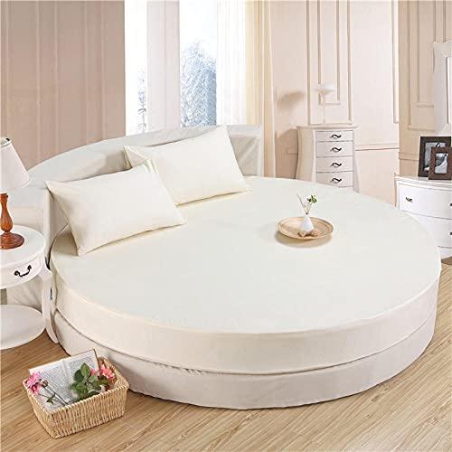 XGguo Protector de colchón Acolchado - Microfibra - Transpirable Funda Protectora de sábanas de algodón Redondas-m Amarillo_1.5m