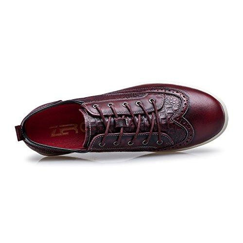 ZRO Men's Brogue Casual Wingtip Sneakers Shoes WINE US 10