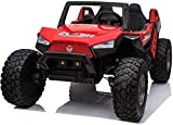 UTV red Adjustable SEAT 4X4 Sport Edition 2 Seater 24VOLTS Buggy/UTV Style Kids Electric Ride On Car with RC - Power Wheel TV Screen Ride ON UTV Buggy 24v Kids Ride On Car with Remote Control RZR