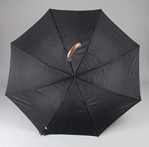 『アテイン 紳士用ジャンプ傘 親骨65cm 黒 3224』の4枚目の画像