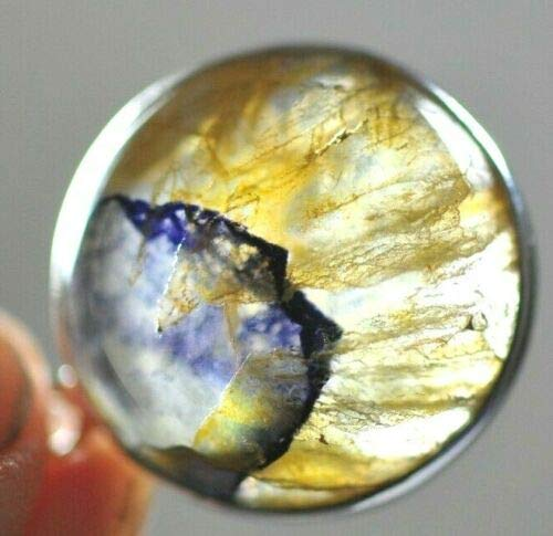 Lovely Blue John Pendant Set in Sterling Silver 1.5 cms 3.24 GMS #5 - Derbyshire