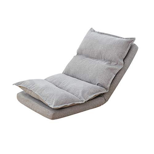 Tiantian-sofa T-T-H Sofá Individual Plegable Silla hogar Dormitorio Simple Silla sillón (Color : Gray)