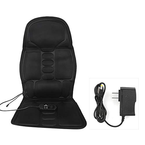 Massage Seat Cushion with Heat, 12V Massage Car Seat Cushion Chair Pad Kneading Back Massager Heated Electric Car Neck Lumbar Full Body Massage Pad Relieve Muscle Pain for Home Office(US Plug)
