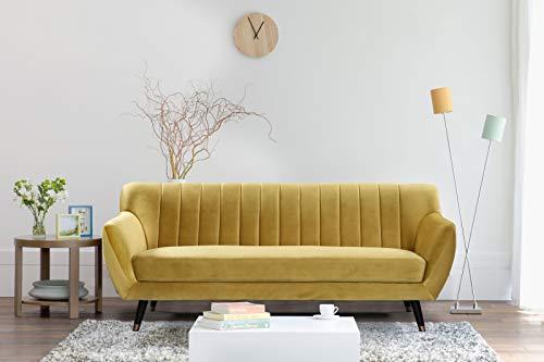 Mobilier Deco - Divano 3 posti in velluto giallo Louise