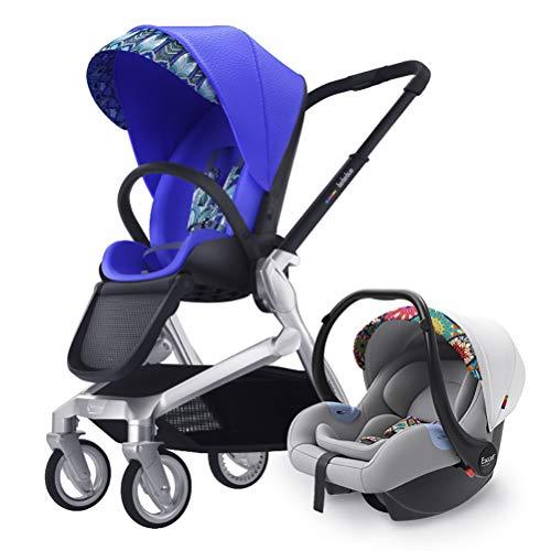ZXYSR Baby kinderwagen Bassinet Pram Carriage kinderwagen - Alle Terrein Vista City Select Pushchair kinderwagen Compact Convertible kinderwagens