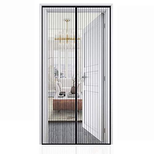 ASDF Mosquitera Puerta Magnética, Mosquitera Ventana Sellado Automaticamente Evita Paso de Insectos,FáCil De Instalar,para Sala de Estar, Dormitorio, Balcón,Puertas Correderas