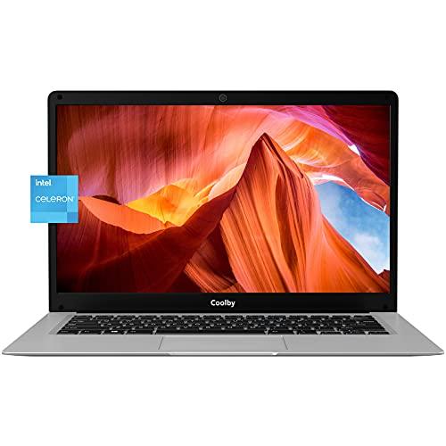 """Coolby Ordenador Portátiles FHD Slim de 14 """", Delgado PC Nuevo Portátil 6GB RMA y 128GB, Win10 Pro, Intel Celeron N3350, WiFi Estable , Blt4.2, Dual USB, HDMI, Cuaderno Gris Espacial - YealBook"""