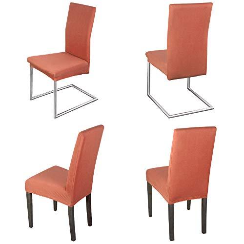 Staboos Juego de 4 fundas para silla, 96% algodón, bielásticas, universales, lavables y no necesitan planchado, diseño de flamencos