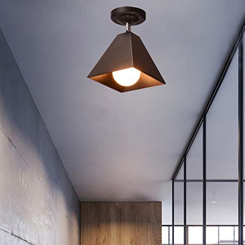 PEJGD Pendelleuchte LED Nordic Minimalist Modernes Wohnzimmer Bar Restaurant Lichter Büro Gang Flure LED Universal Deckenstrahler (Farbe   Schwarz, Gre   AC 110V)