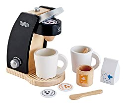 in budget affordable Two wooden coffee makers Hape Coffee Time plays kitchen set