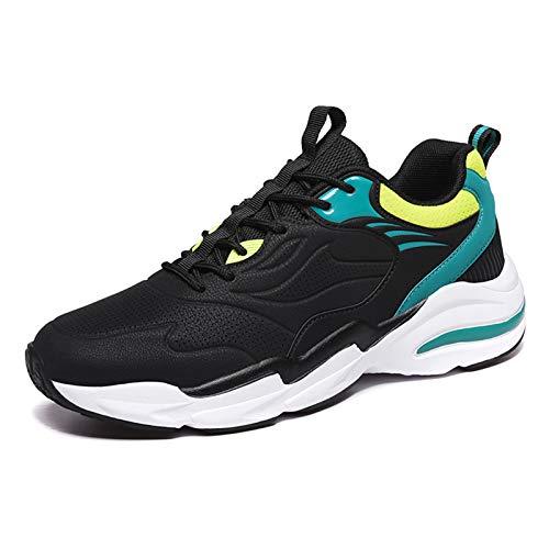 Magnifier Zapatos para Caminar para Hombre, para Correr Tenis Entrenamiento Informal Entrenamiento Zapatos Gimnasio Zapatos Trabajo atléticos Zapatillas Deportivas Ligeras y Transpirables,Negro,42