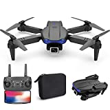 Jiajaja Portable Drone 4k Hd Wide Angle Dual Camera Smart Selfie WiFi FPV Altitude Hold Foldable Professional Drones Rc Quadcopter Helicopter Toy for Boys Gift (Black)
