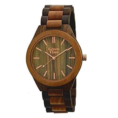 Orologio Green Time Solo Tempo in Legno Noce e Sandalo – ZW021L