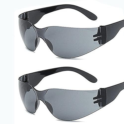 YYMM 2 unids Equitación al Aire Libre Gafas de Sol, Gafas de conducción a Prueba de explosiones de PC, Almohadillas de Nariz Ajustables PC Frame Gafas de Sol, para Deportes Senderismo Viajes de esquí