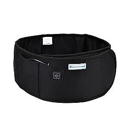Heating Waist Belt Electric Back Massager Infrared Fat Burning Heating Belt Back Wrap Slimming Weight Losing Vibration Health Care Tools(Black)