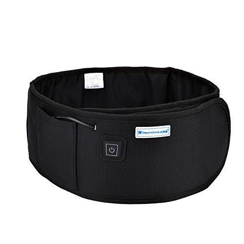 Cinturón adelgazante abdominal Inalámbrico Infrarrojo Quema grasa Cinturón calefactor Vientre Adelgazante Pérdida de peso Vibración(Negro)