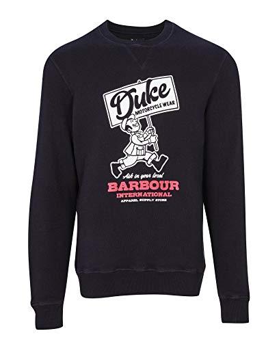 Barbour International Sudadera de hombre negra Famous Duke Sweatshirt Negro M