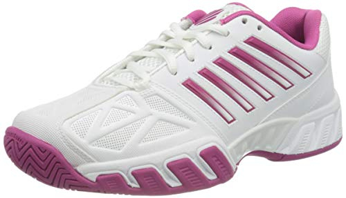 K-Swiss Bigshot Light 3 Womens Tennis Shoes, White/Cactus Flower (US Size 5)