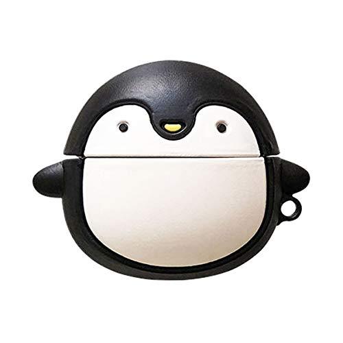 BONTOUJOUR AirPods Case, Cute Kawaii Creative Round Black White Polar...