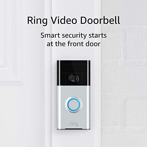Ring Video Doorbell (1st Gen) – 720p HD video, motion activated alerts, easy installation – Satin Nickel