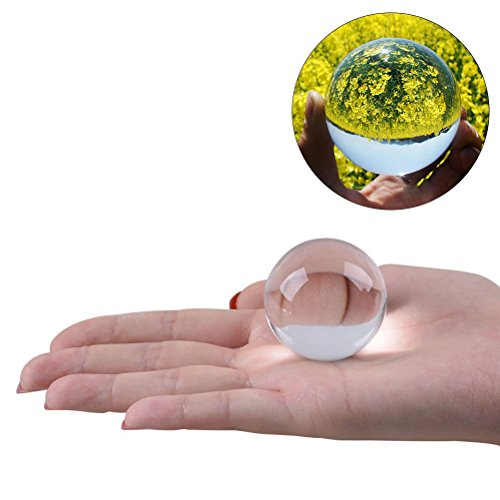 WINOMO Cristal Bola de Cristal Bola Transparente para Feng Shui Fotografía Meditación...