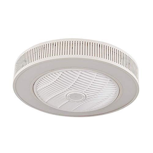 -Luces de Techo Ventilador Ventilador de techo moderno con luz , Lámparas de techo redondas de integración LED de 21.6 pulgadas con control remoto , Lámina de ABS de tres colores con luz regulable , B