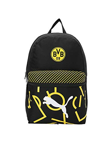 Puma BVB DNA Backpack Rucksack, Black-Cyber Yellow, UA