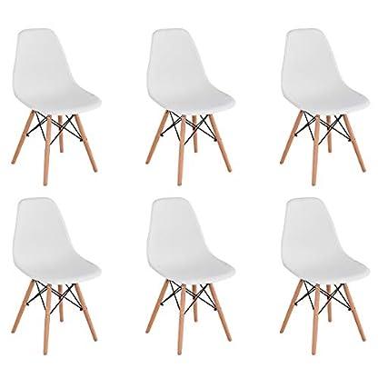 KunstDesign Eames Style Chairs Set de 4