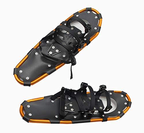 Mini Snowboard Terrain Schneeschuhe,Aluminium Rahmen Anti-Slip Snowshoes Schlitten Für Junge Männer's Und Frauen's Outdoor Mountain Hiking-Weiß 22 zoll/58cm