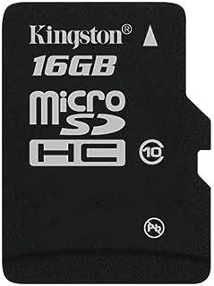 بطاقة ذاكرة مايكرو اس دي اتش سي 16 جيجا فئة 10 من كينجستون