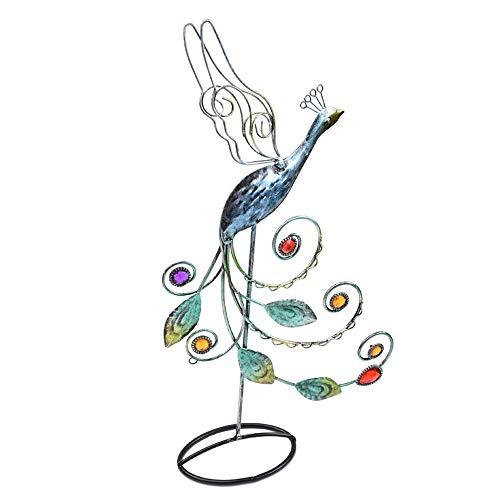 Slivy El Estante de exhibición de la Vendimia del Pavo Real Soporte de la joyería Decorativo Accesorio de la Pulsera del Organizador del almacenaje del Arte del Hierro, Collares Plataforma Reg