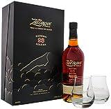 Zacapa 755662 - Paquete de Regalo con 2 Vasos de chupito (Alcohol, 40%, 700 ml)