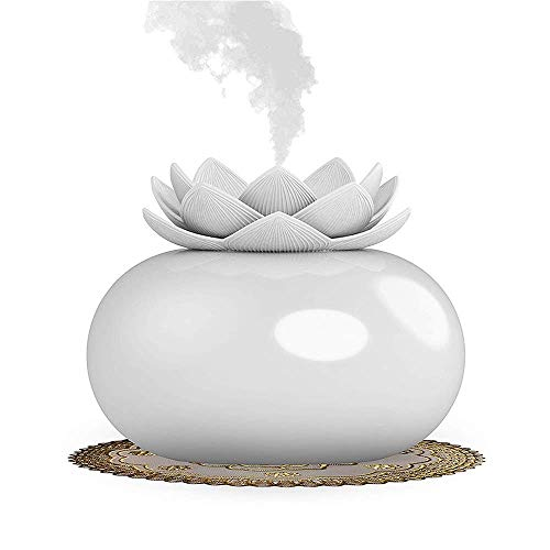 Best Buy! CLKjdz Mini Humidifier USB Office Lotus Shape Air Humidifier Light Mini USB Home Air Humid...
