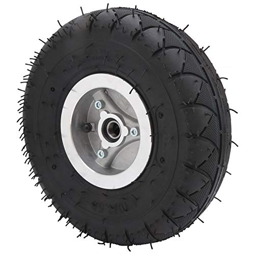 Shanrya Neumático de inflado de Scooter eléctrico, neumático de inflado con Cubo de Rueda Neumático de inflado de neumáticos de Goma para cortacésped para triciclos eléctricos para carros