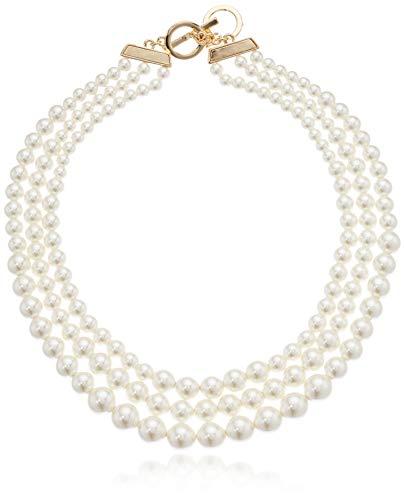 Anne Klein Women#039s GoldTone Blanc Pearl Collar Necklace Gold/White 0