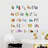 DYCUN Aufkleber Wand-Aufkleber Cartoon Tiere Vögel Hunde-Wand-Aufkleber kreative Buchstaben Murals Applikationen Poster Geeignet for Kinderzimmer Schlafzimmer Wohnzimmer Kindergarten (Color : Multi)