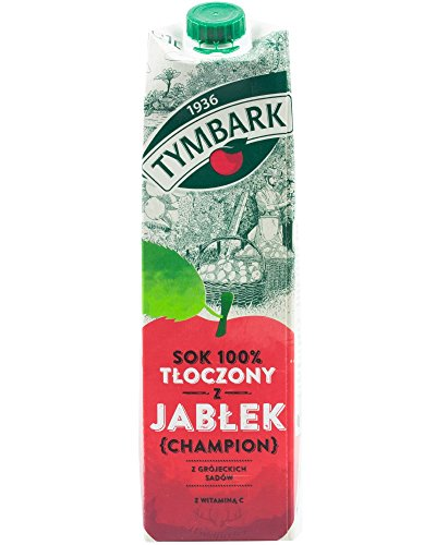 Tymbark 100% Saft gepresst von Äpfeln Champion 1L