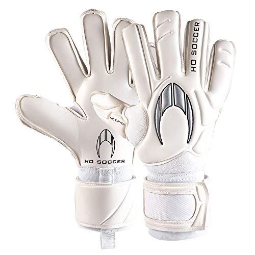 HO Soccer Pro Curved Gen X Torwarthandschuhe, Unisex für Erwachsene Einheitsgröße weiß/schwarz/Silber