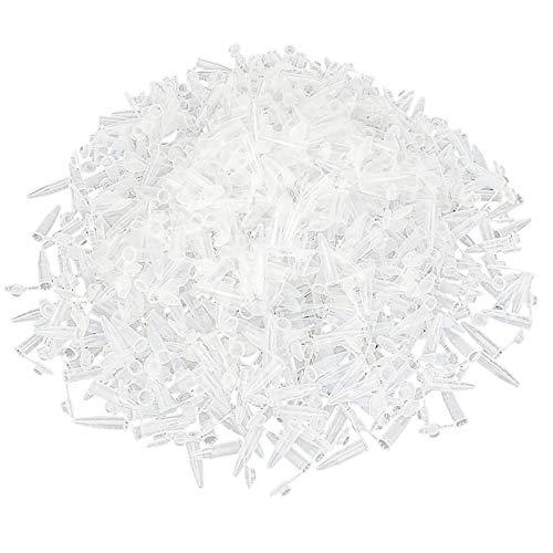 Cikonielf 0,5 ml/2,0 ml/10 ml Zentrifugenröhrchen Reaktionsgefäße Kunststoff EP Röhrchen mit rundem Boden Röhrchen Kunststoff Mikrozentrifugen Reagenzgläser(1000 Stück 0,5 ml)