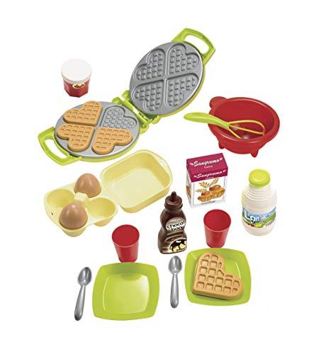 Ecoiffier – Waffeleisen für Kinder – 22-teiliges Backset mit Spiellebensmitteln, ideales Zubehör für Spielküchen, Spielwaffeleisen, für Kinder ab 18 Monaten - 5