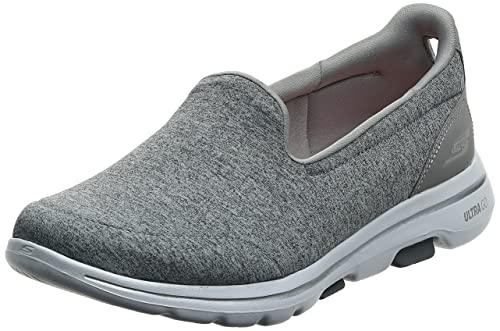 Skechers Women's GO Walk 5-Honor Sneaker, Gray, 9.5 M US