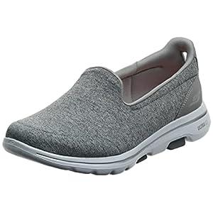 Skechers Women's GO Walk 5-Honor Sneaker, Gray, 8.5 M US