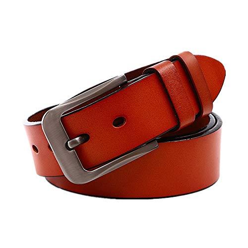 Dhmm123 Mode-Ledergürtel Herren Gürtel Vintage Echtleder Gürtel Schwarz/Braun (Color : Brown, Size : 115CM)