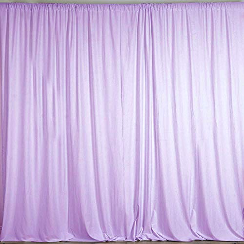 AK TRADING CO. 10 feet x 8 feet Polyester Backdrop Drapes Curtains Panels with Rod Pockets - Wedding Ceremony Party Home Window Decorations - Lavender