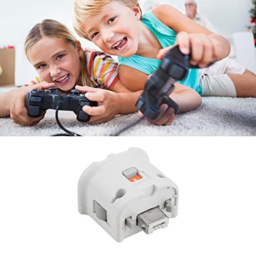 Wii Motion Plus Adaptador para acelerador Sensor Remote Plus Exterior para el Mando Nintendo Wii Blanco 1 unidad
