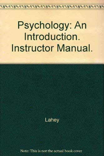 Download Psychology: An Introduction. Instructor Manual. 0697253112